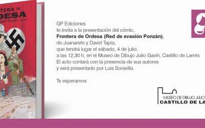 Presentación del cómic Frontera de Ordesa en el Museo de dibujo Julio Gavín-Castillo de Larrés