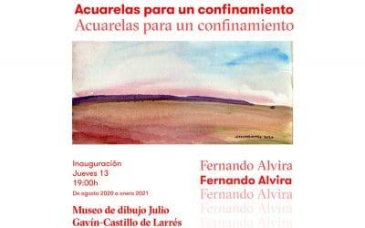 Nueva exposición temporal «Acuarelas para un confinamiento» de Fernando Alvira