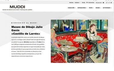 El MUDDI, el Museo de dibujo Julio Gavín «Castillo de Larrés», estrena web
